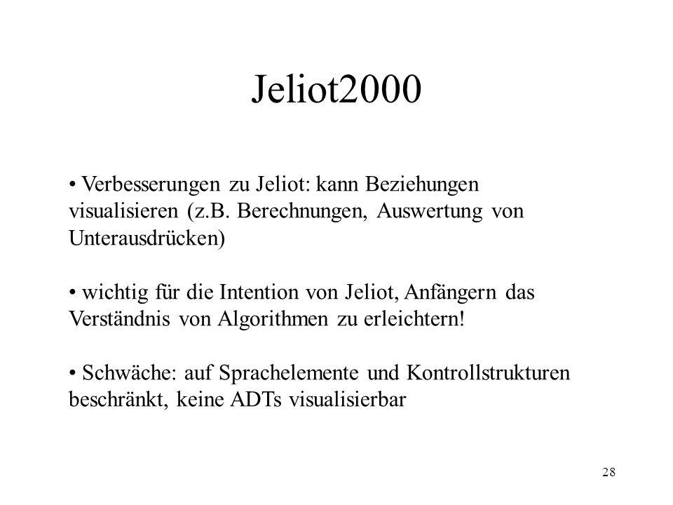 28 Jeliot2000 Verbesserungen zu Jeliot: kann Beziehungen visualisieren (z.B.