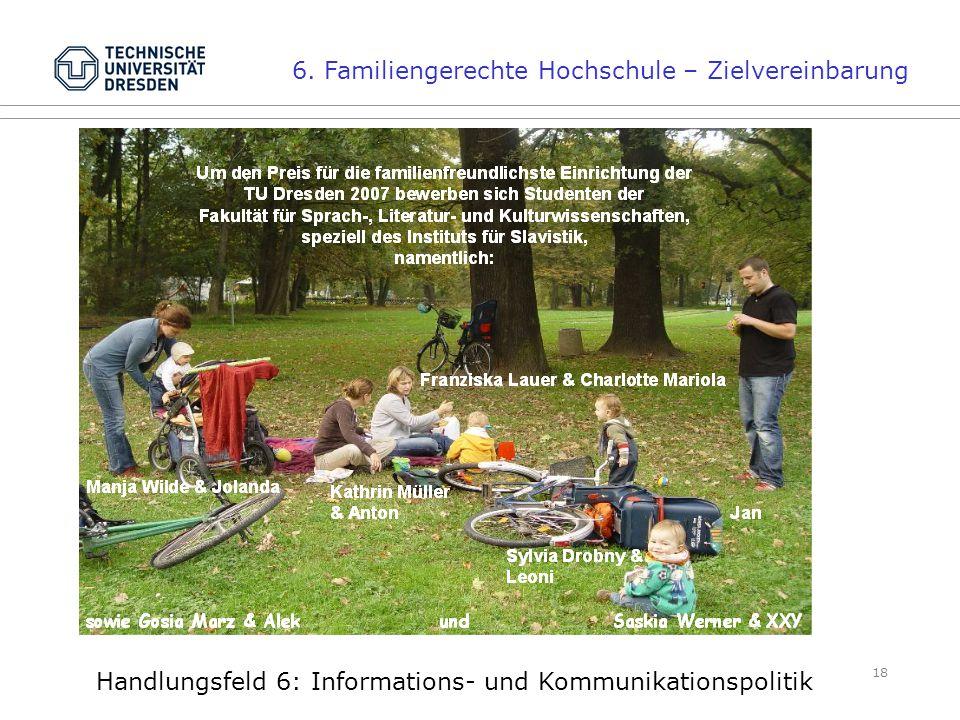 18 Handlungsfeld 6: Informations- und Kommunikationspolitik 6.