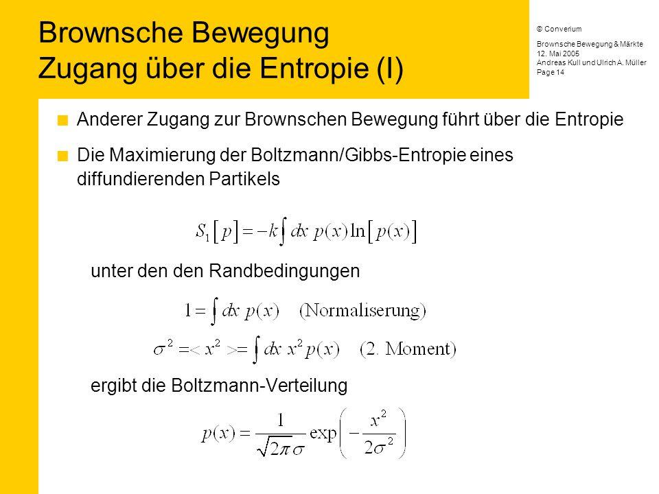 Brownsche Bewegung & Märkte © Converium Andreas Kull und Ulrich A.