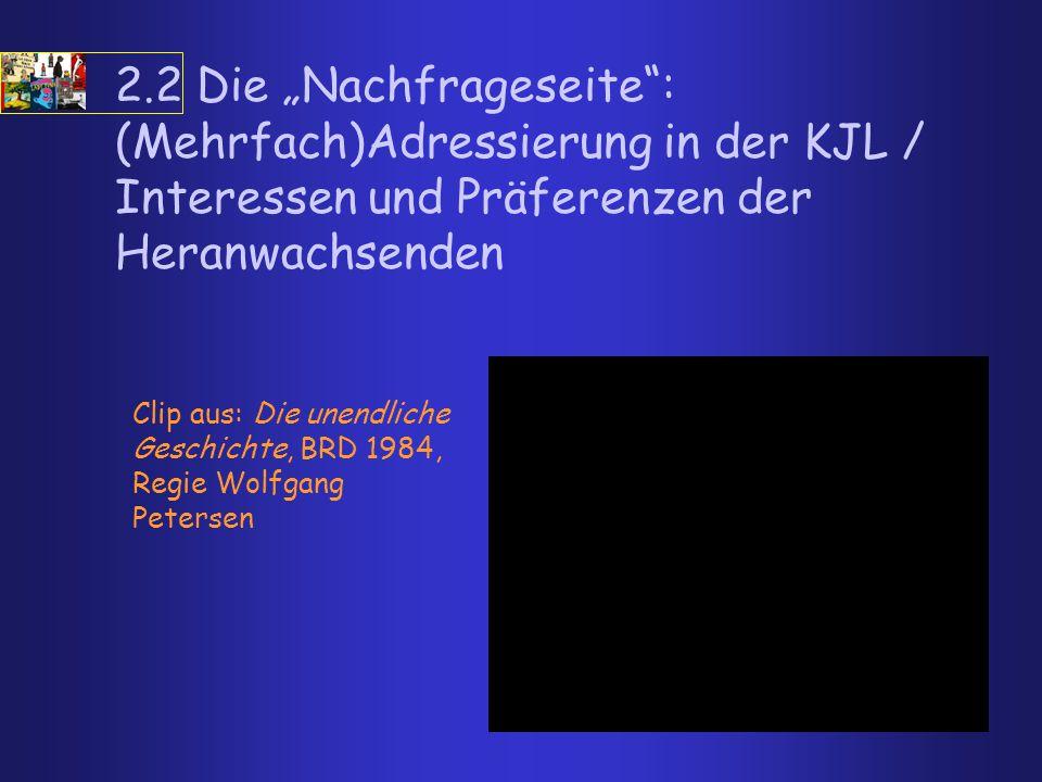 """2.2 Die """"Nachfrageseite"""": (Mehrfach)Adressierung in der KJL / Interessen und Präferenzen der Heranwachsenden Clip aus: Die unendliche Geschichte, BRD"""