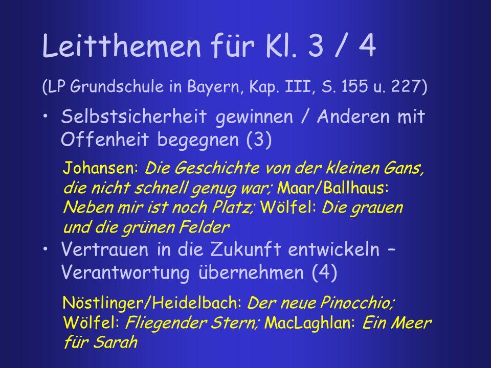 weitere AutorInnen für Kl.3 / 4: Erzählungen für Kinder: Thomas Winding, z.B.