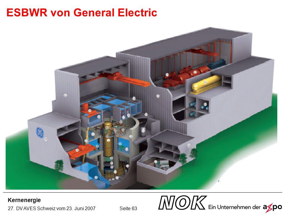 Kernenergie 27. DV AVES Schweiz vom 23. Juni 2007 Seite 63 ESBWR von General Electric