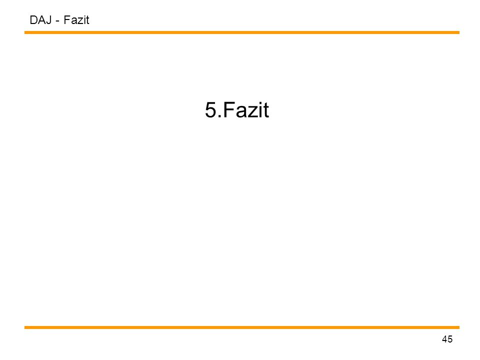 DAJ - 45 Fazit 5.Fazit