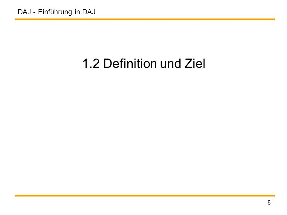"""DAJ - 6 DAJ (1997): Definition und Ziel """"DAJ is a toolkit for designing, implementing, testing, simulating, and visualizing distributed algorithms in Java. (Schreiner) """" The goal of the toolkit is to provide an universally accessible platform for research and education in the area of distributed algorithms. (Schreiner)"""