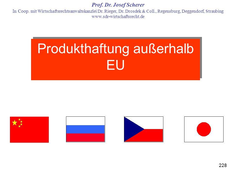 Prof. Dr. Josef Scherer In Coop. mit Wirtschaftsrechtsanwaltskanzlei Dr. Rieger, Dr. Drosdek & Coll., Regensburg, Deggendorf, Straubing www.sdr-wirtsc