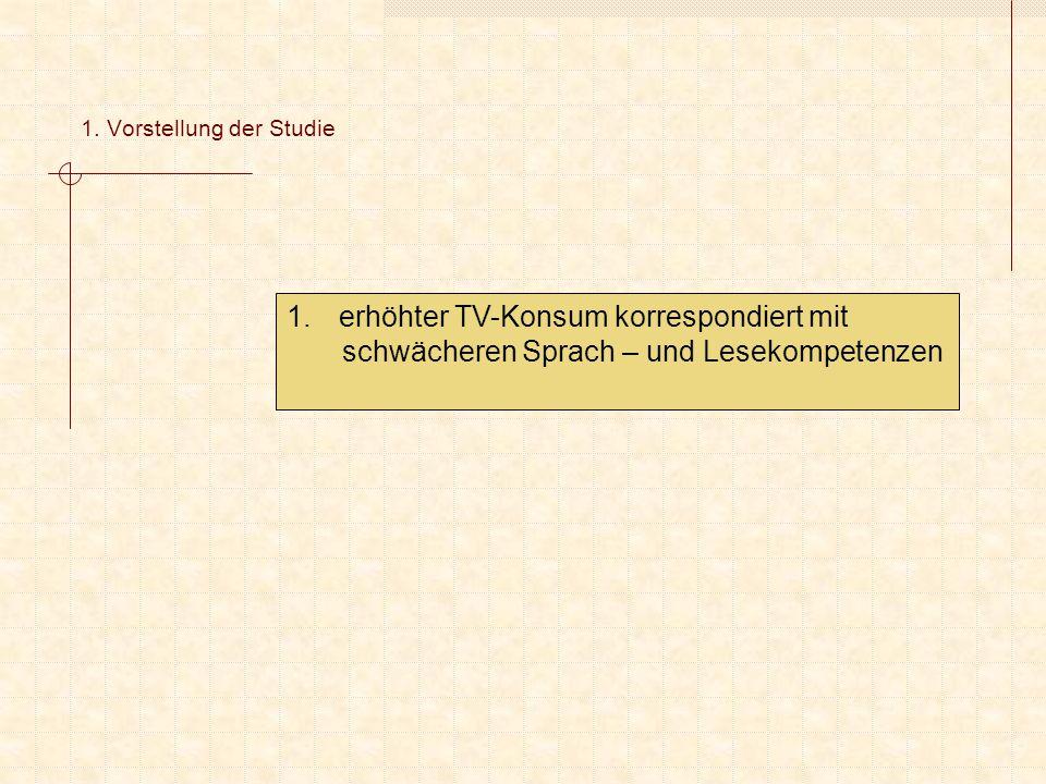 2.Empirische Überprüfung der SÖS-Mainstreaming- Hypothese 1.