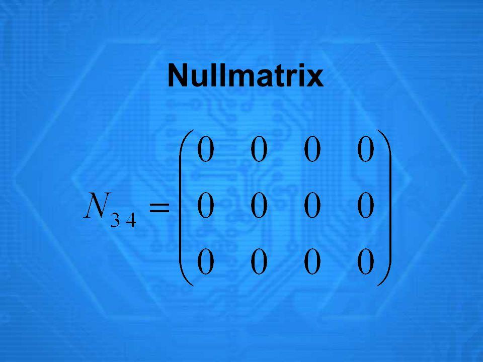 Nullmatrix