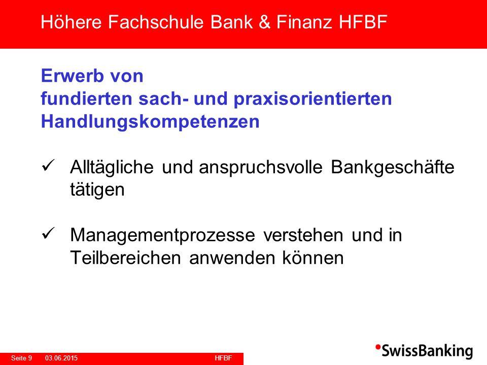 HFBF Seite 2003.06.2015 Anbieter/Standorte AKAD Banking + Finance AG Höhere Fachschule Bank & Finanz HFBF