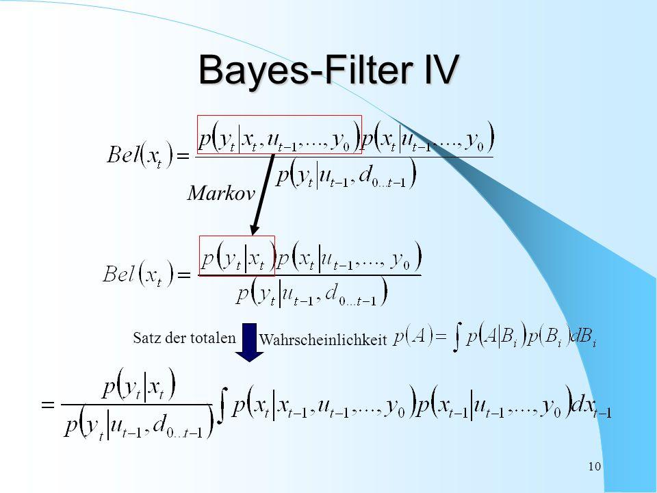 10 Markov Bayes-Filter IV Wahrscheinlichkeit Satz der totalen