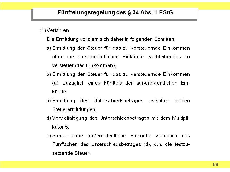 68 Fünftelungsregelung des § 34 Abs. 1 EStG