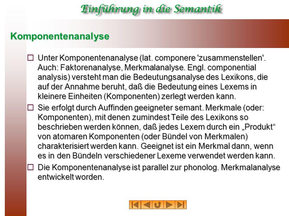Komponentenanalyse  Unter Komponentenanalyse (lat.