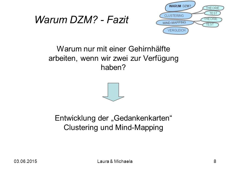 03.06.2015Laura & Michaela8 Warum DZM.- Fazit WARUM DZM.