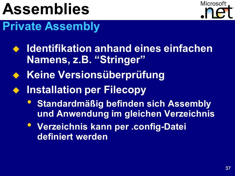 37  Identifikation anhand eines einfachen Namens, z.B.