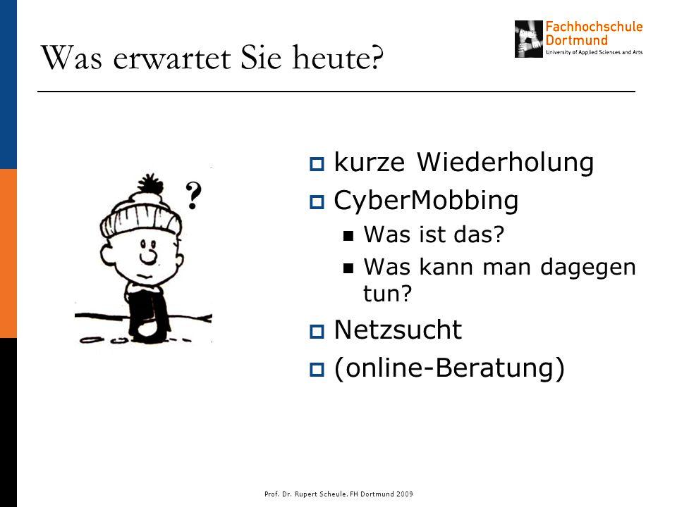 Prof. Dr. Rupert Scheule, FH Dortmund 2009 Was erwartet Sie heute.