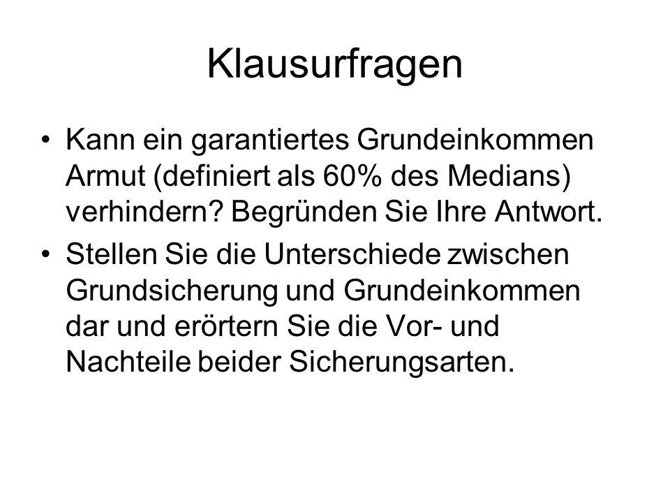 Dieter Althaus – Bürgergeld schafft Arbeitsanreize Situationsanalyse –Arbeitsmarktkrise: Arbeit ist vorhanden, aber nicht bezahlbar –Hartz IV ist zu bürokratisch und schwächt Arbeitsmotivation Konzeption –800 Euro Bürgergeld für Erwachsene, 500 Euro für Kinder (minus 200 Euro K.V.