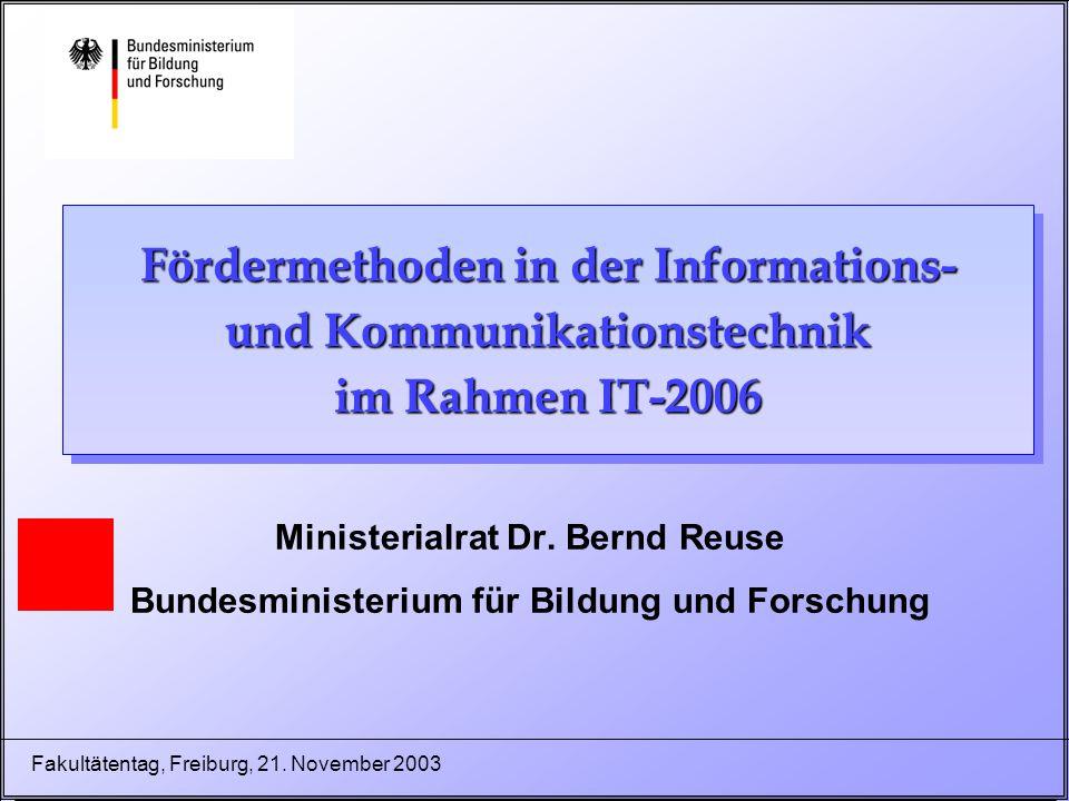 22 Fakultätentag, Freiburg, 21.November 2003 3.
