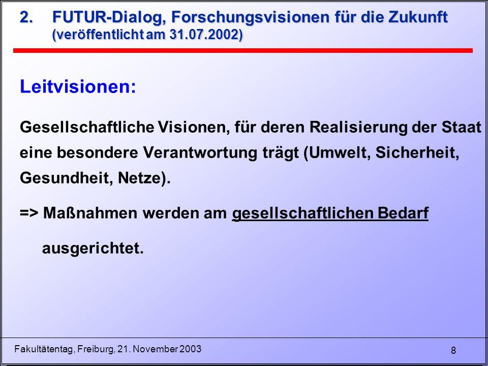 9 Fakultätentag, Freiburg, 21.November 2003 3.