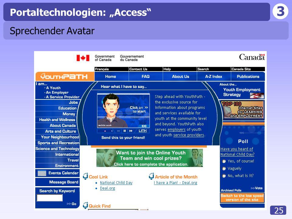 "3 25 Sprechender Avatar Portaltechnologien: ""Access"""