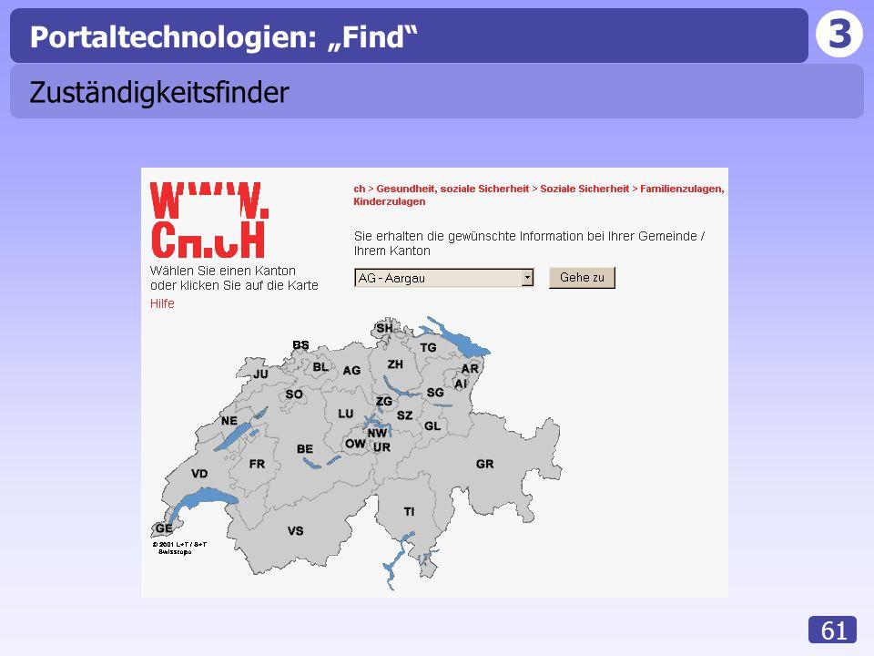 """3 61 Zuständigkeitsfinder Portaltechnologien: """"Find"""""""