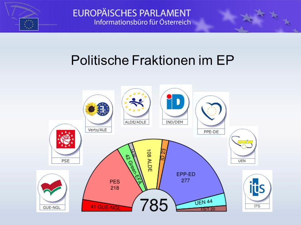 Politische Fraktionen im EP