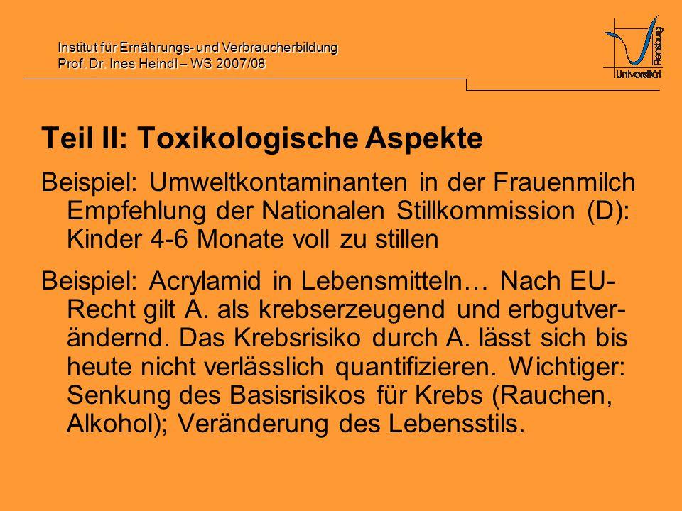 Institut für Ernährungs- und Verbraucherbildung Prof.