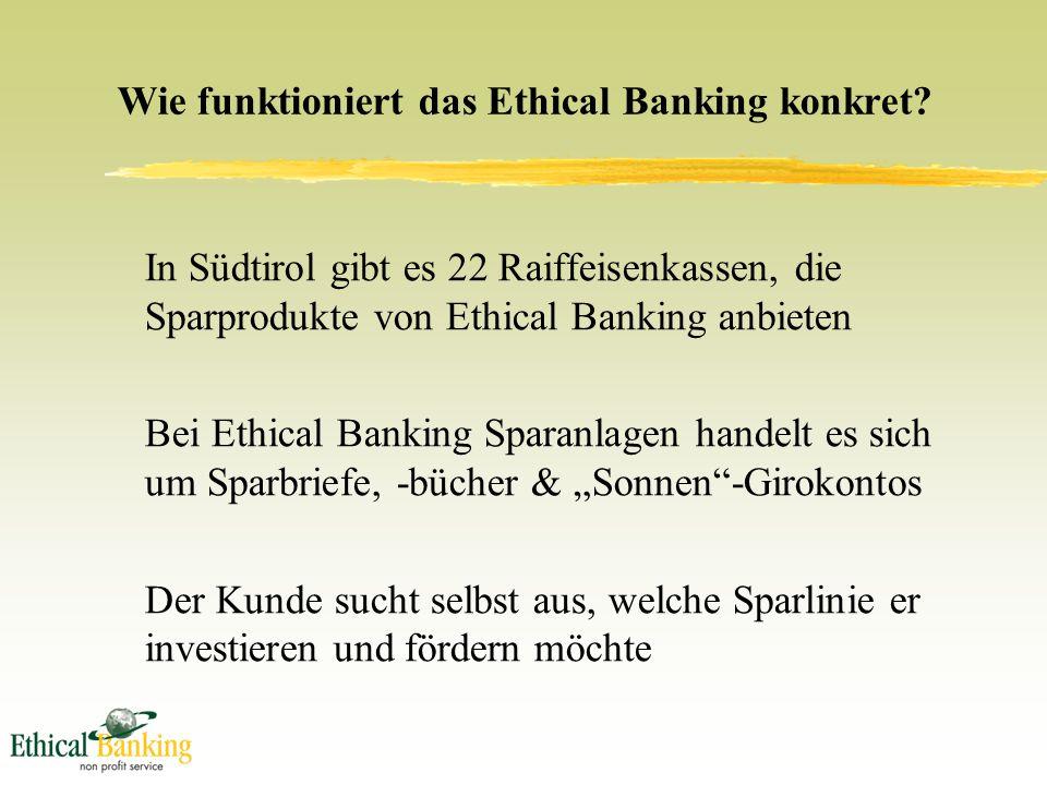 Wie funktioniert das Ethical Banking konkret.