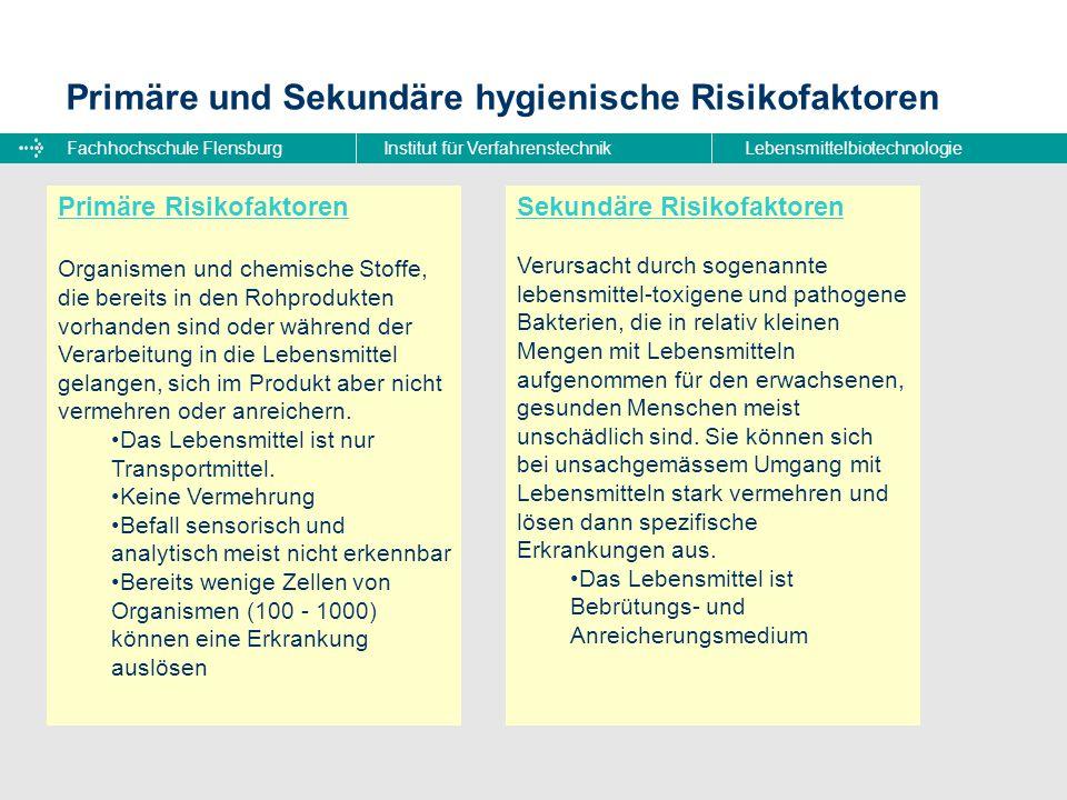 Fachhochschule FlensburgInstitut für VerfahrenstechnikLebensmittelbiotechnologie Bakterielle Kontaminationen