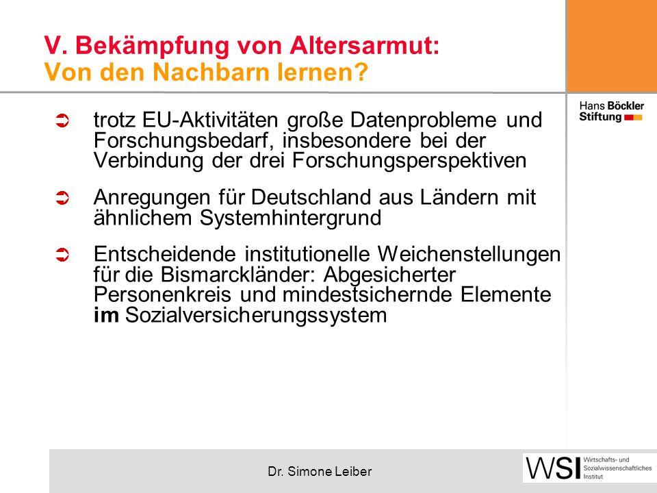 Dr. Simone Leiber V. Bekämpfung von Altersarmut: Von den Nachbarn lernen.