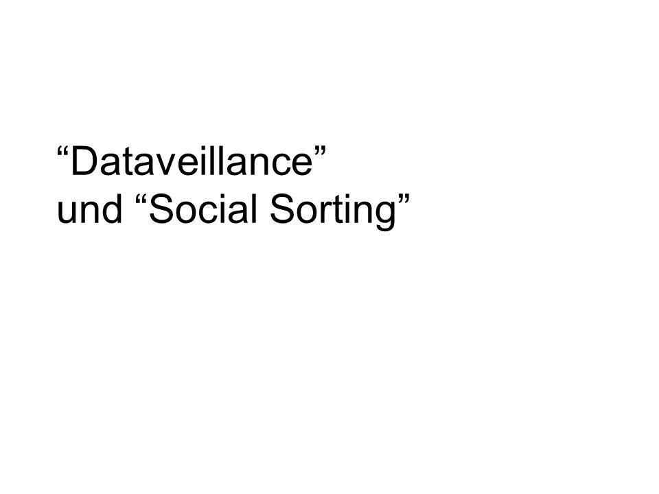 Dataveillance und Social Sorting