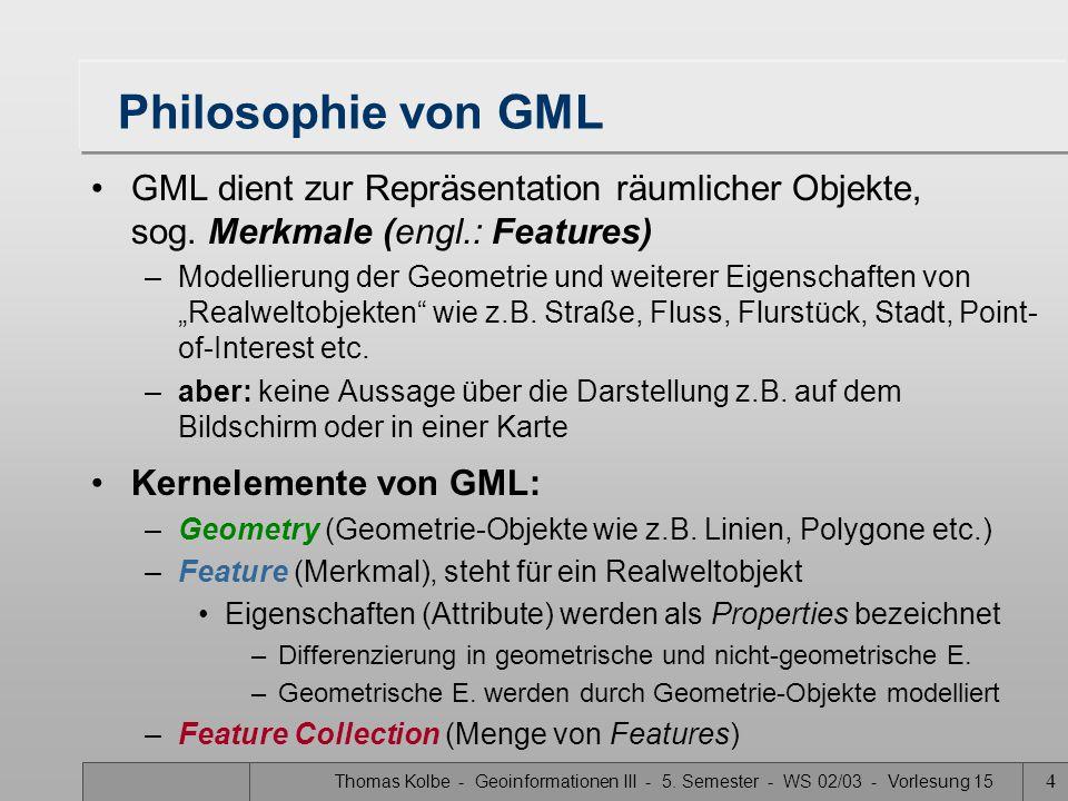 Thomas Kolbe - Geoinformationen III - 5.