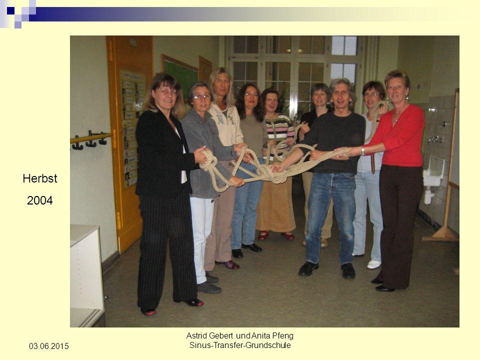 Astrid Gebert und Anita Pfeng Sinus-Transfer-Grundschule 03.06.2015 Herbst 2004