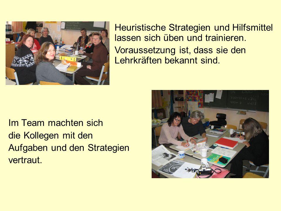 Im Team machten sich die Kollegen mit den Aufgaben und den Strategien vertraut.