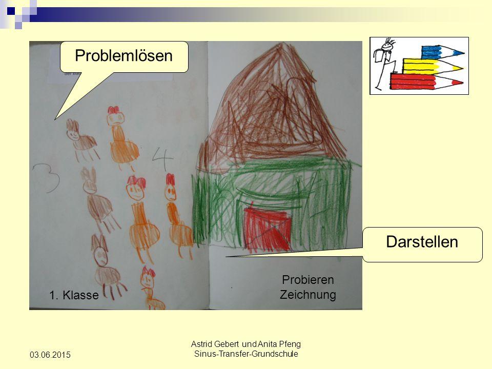 Astrid Gebert und Anita Pfeng Sinus-Transfer-Grundschule 03.06.2015 Probieren Zeichnung 1.