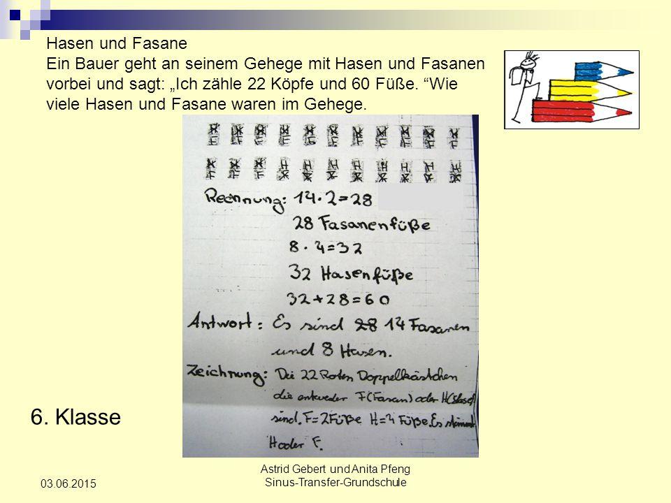 Astrid Gebert und Anita Pfeng Sinus-Transfer-Grundschule 03.06.2015 6.
