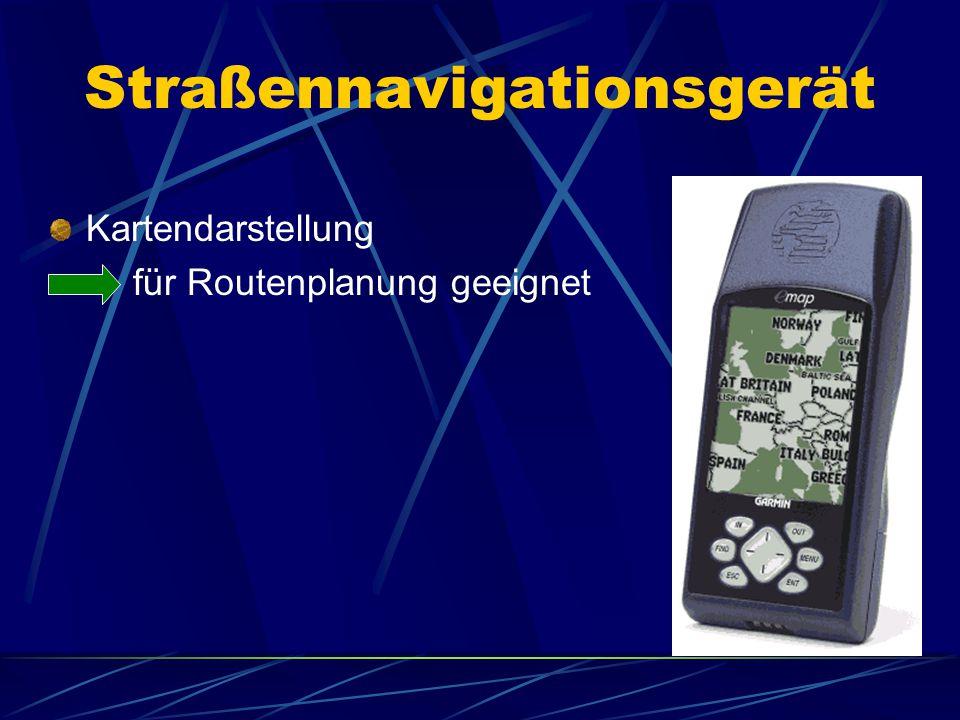 Straßennavigationsgerät Kartendarstellung für Routenplanung geeignet