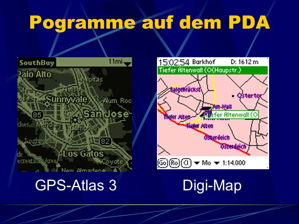Pogramme auf dem PDA GPS-Atlas 3Digi-Map