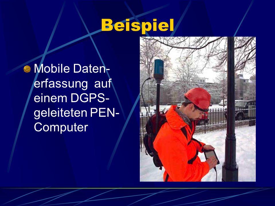 Beispiel Mobile Daten- erfassung auf einem DGPS- geleiteten PEN- Computer