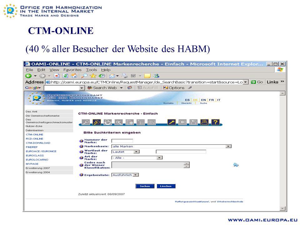 E-OPPOSITION Web-Formblatt (1 Seite) mit Speicheroption Sofortige und automatische Zuteilung einer Widerspruchsnummer Größe der Anlagen auf 5 MB beschränkt ca.