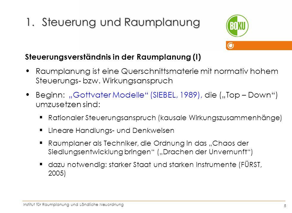 Institut für Raumplanung und Ländliche Neuordnung IRUB 26 1.