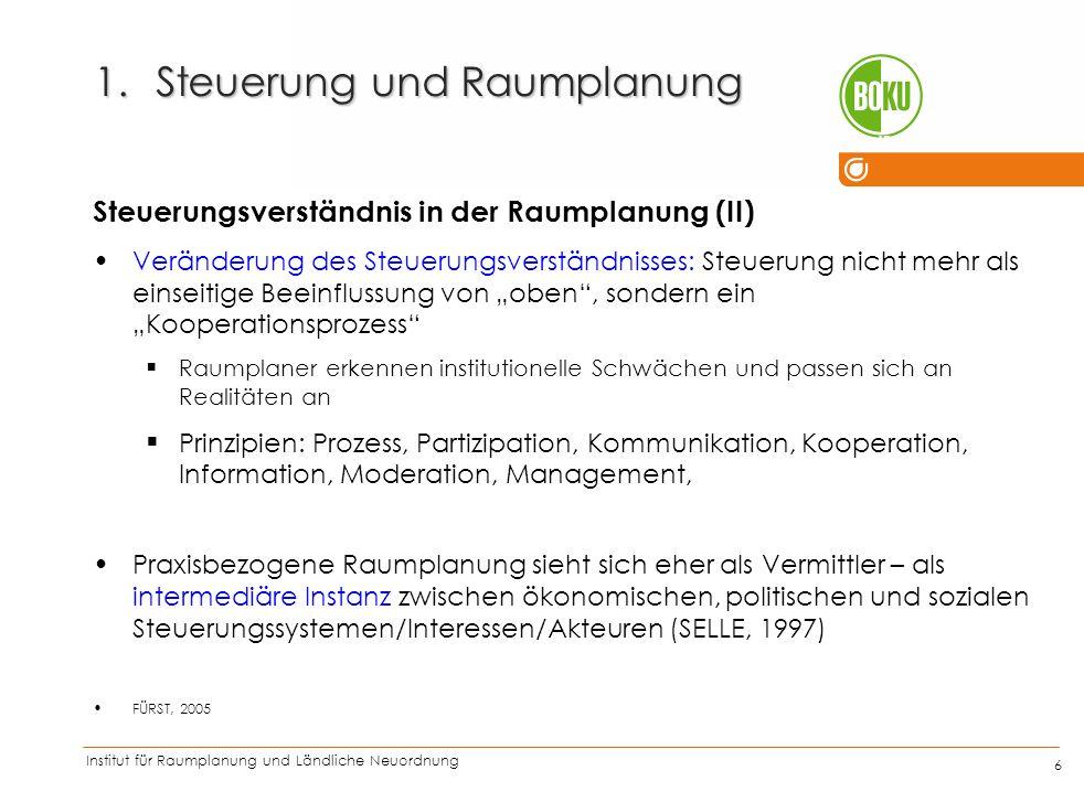 Institut für Raumplanung und Ländliche Neuordnung IRUB 17 1.