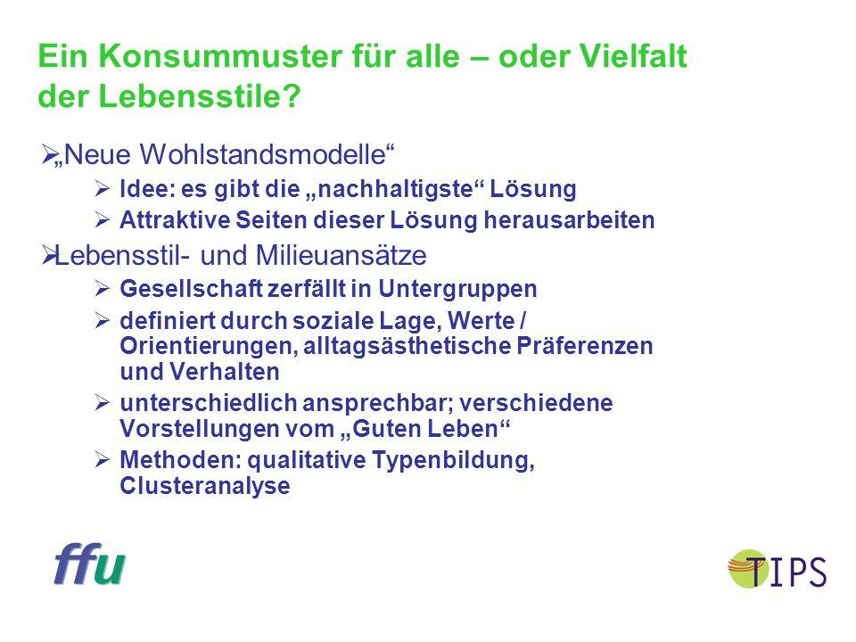 """Neue Wohlstandsmodelle: """"Bilder eines Guten Lebens  Beispielprojekte  Verein """"Autofrei Leben  Tauschringe  Haus der Eigenarbeit  Workcamp im Bergwald  Diskussionsforum in Internet  http://www.wupperinst.org/Gutes_Leben/"""