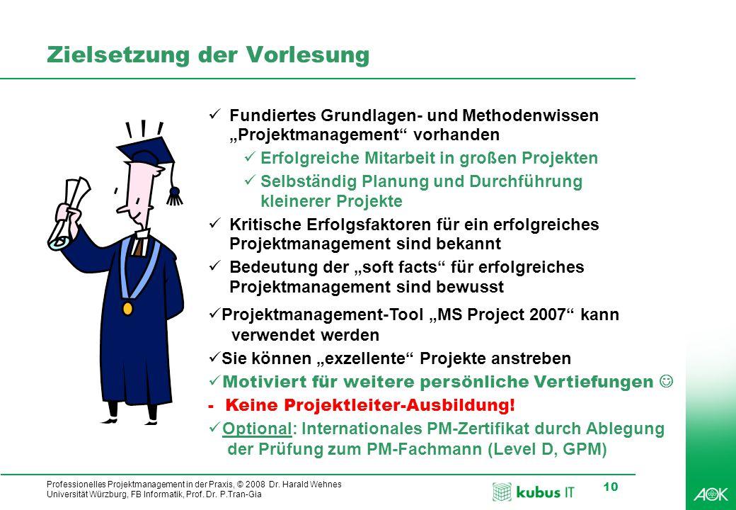 Professionelles Projektmanagement in der Praxis, © 2008 Dr.