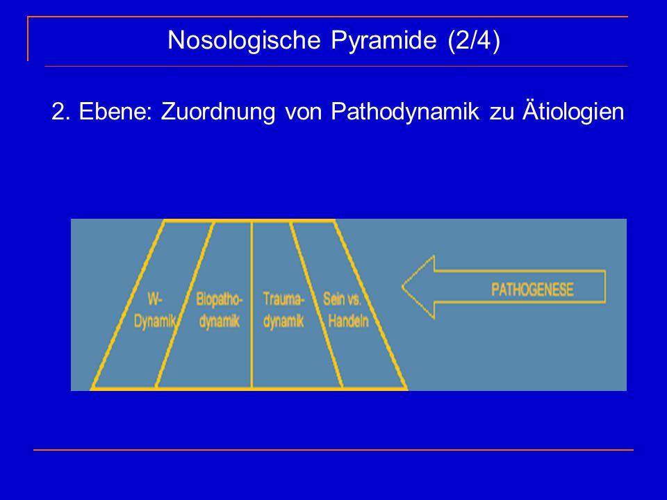 Nosologische Pyramide (2/4) 2. Ebene: Zuordnung von Pathodynamik zu Ätiologien