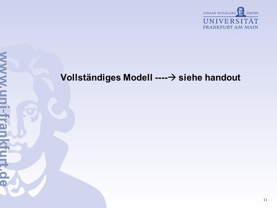 11 Vollständiges Modell ----  siehe handout