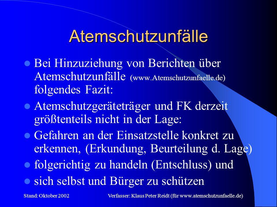 Stand: Oktober 2002Verfasser: Klaus Peter Reidt (für www.atemschutzunfaelle.de) Gefährdungspotential Altenheim Altenheim......im Stadt-,Ortsteil........