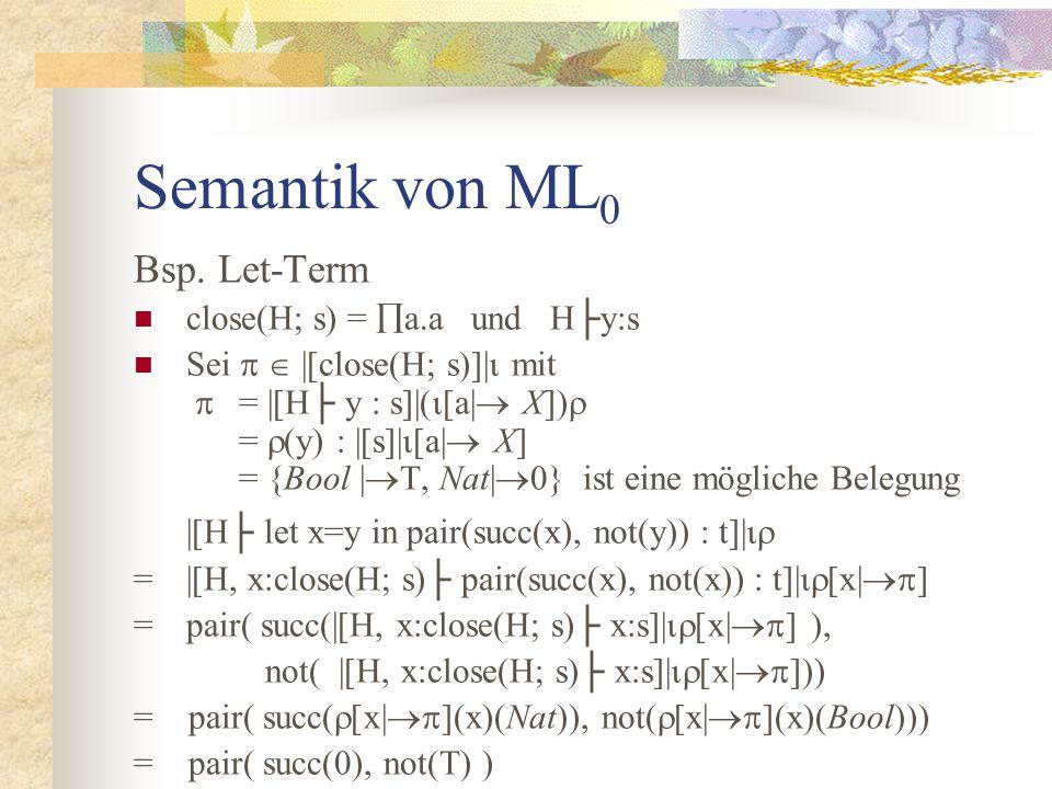 Semantik von ML 0 Bsp.