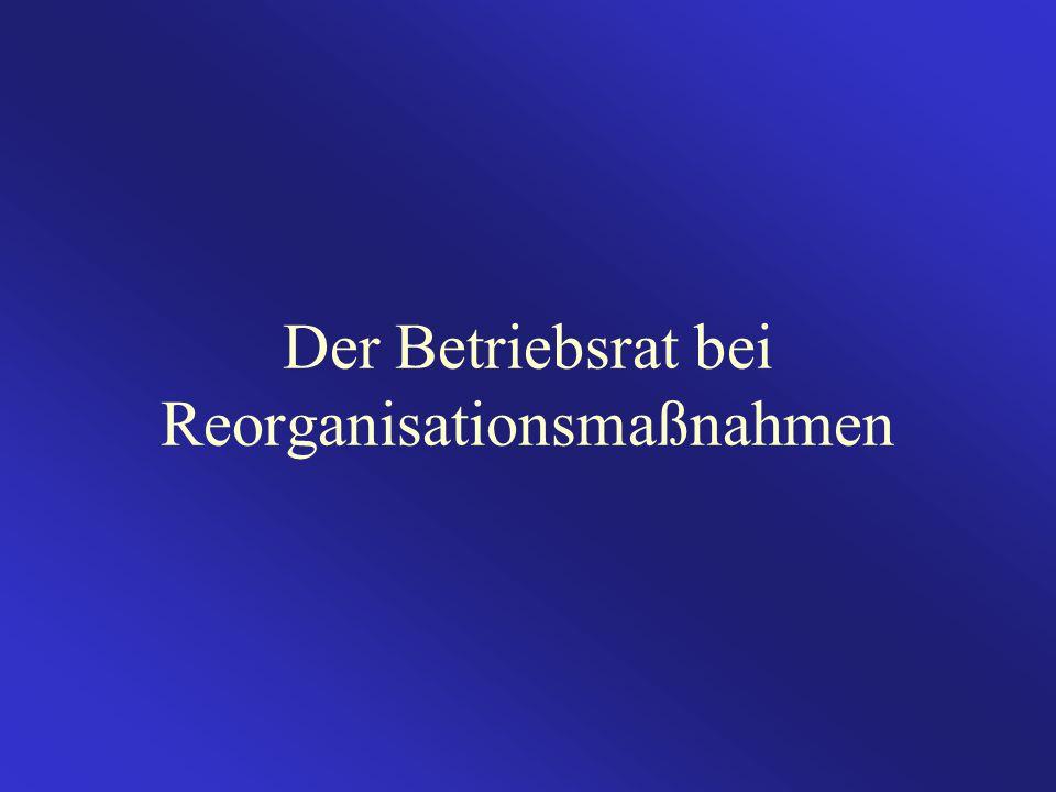 Der Betriebsrat bei Reorganisationsmaßnahmen