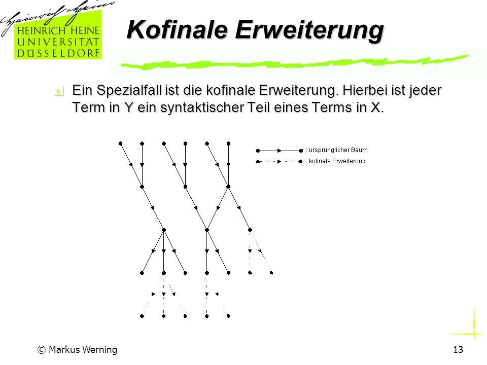 © Markus Werning13 Kofinale Erweiterung Ein Spezialfall ist die kofinale Erweiterung.