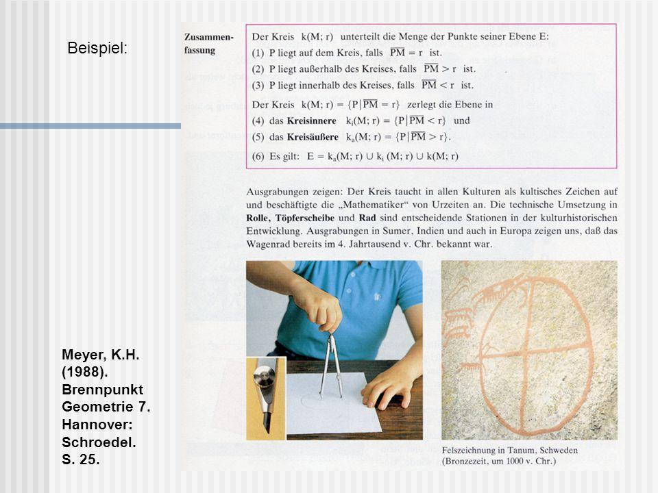 Meyer, K.H. (1988). Brennpunkt Geometrie 7. Hannover: Schroedel. S. 27.