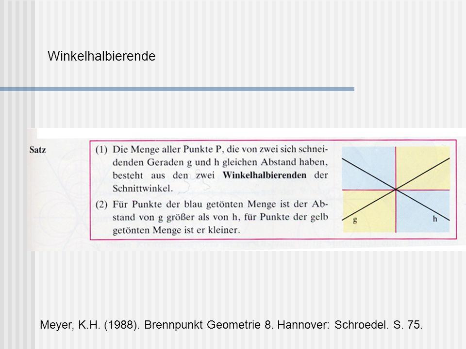 Satz: Jedes Dreieck hat einen Umkreis.Sein Mittelpunkt ist der Schnittpunkt der Mittelsenkrechten.